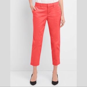 Slim City Red Colored Khakis Chinos Gap Size 4